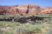 Terreno di lava, Snow Canyon sulla Highway 18 a nordovest di St. George