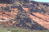 Impressive lava fields in Snow Canyon